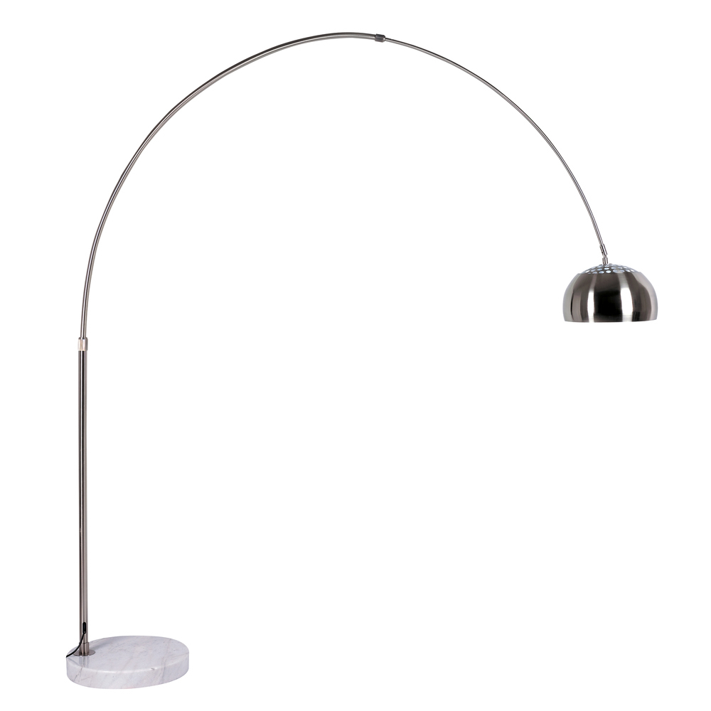 Giant curved floor light with metal shade dwell for Giant curved floor lamp with metal shade