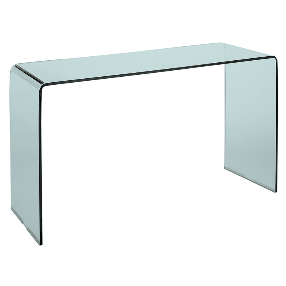 puro tempered glass console table clear - dwell