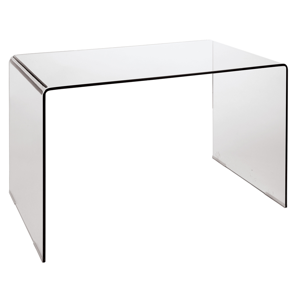 Puro Glass Desk Clear Dwell