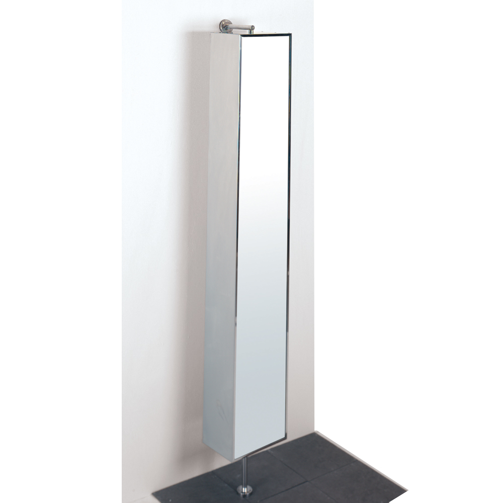 Rotating Mirrored Floor Cabinet Dwell
