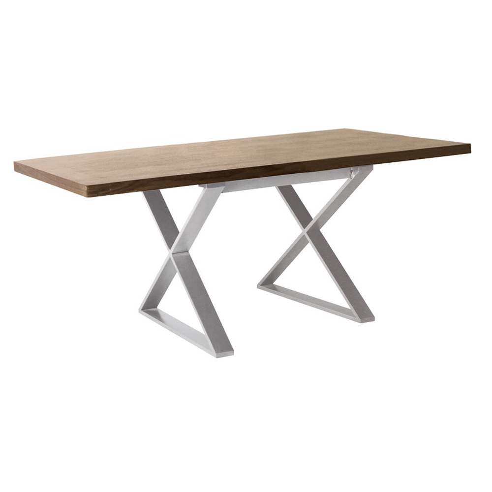 Crossed Leg Walnut Dining Table Dwell