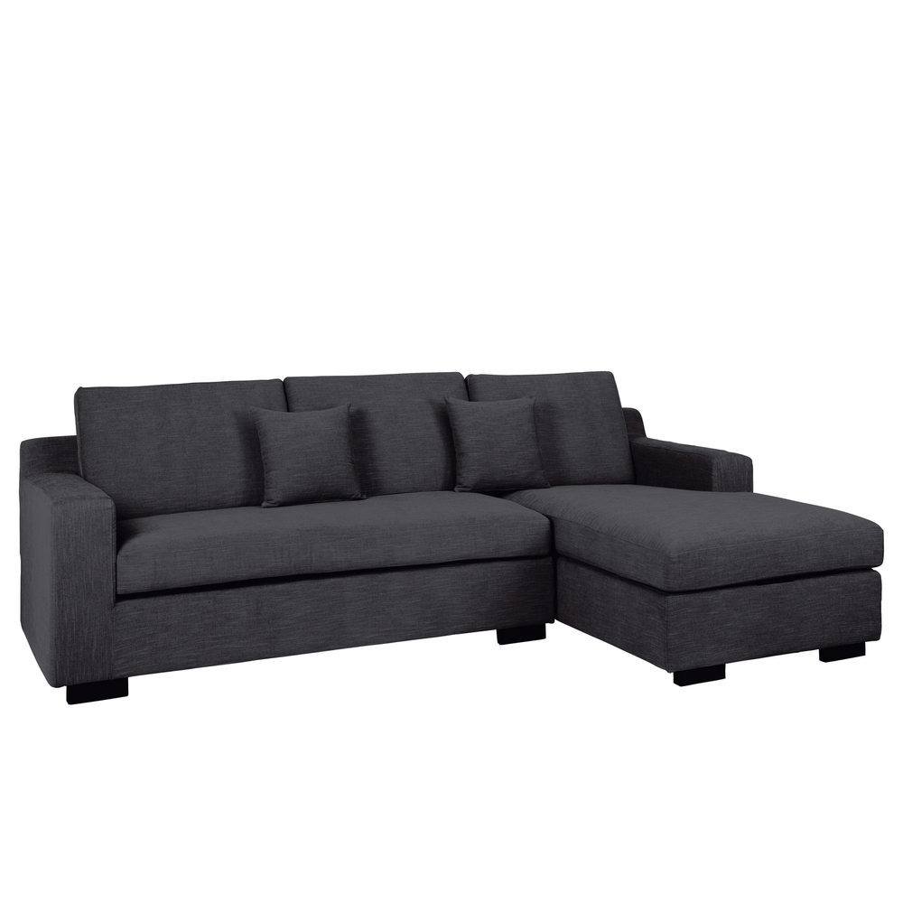 Milan corner sofa bed with storage right hand grey dwell Corner couch sofa bed