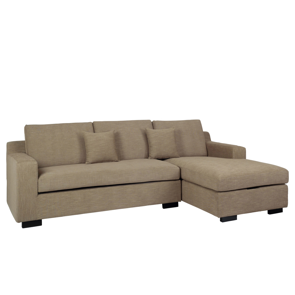 Milan Corner Sofa Bed With Storage Right Hand Sand Dwell
