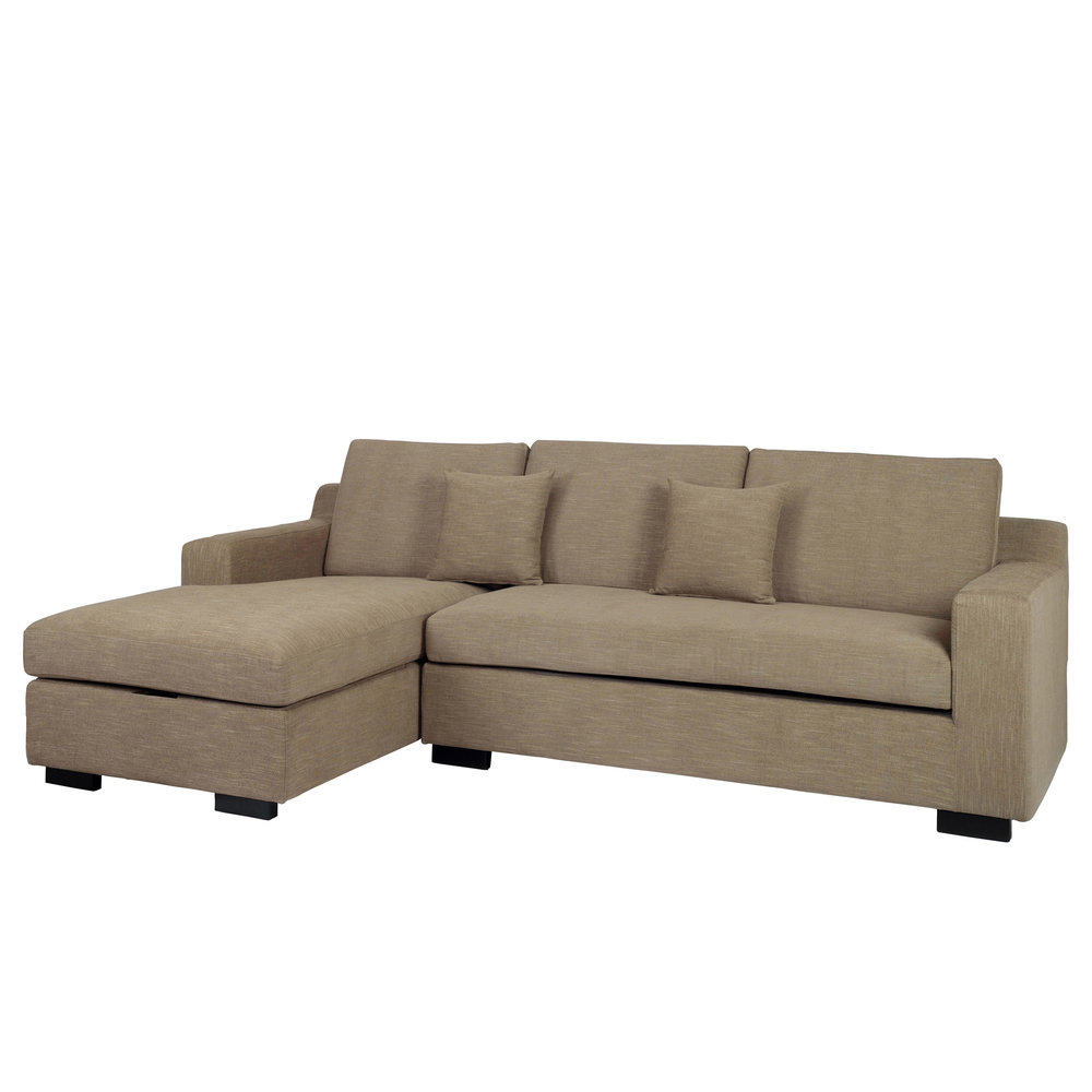 Dwell Milan Corner Sofa Bed With Storage Left Hand Sand