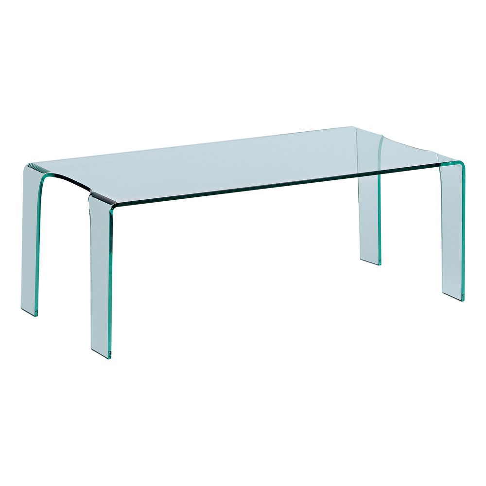 Puro tempered glass coffee table dwell for Tempered glass coffee table