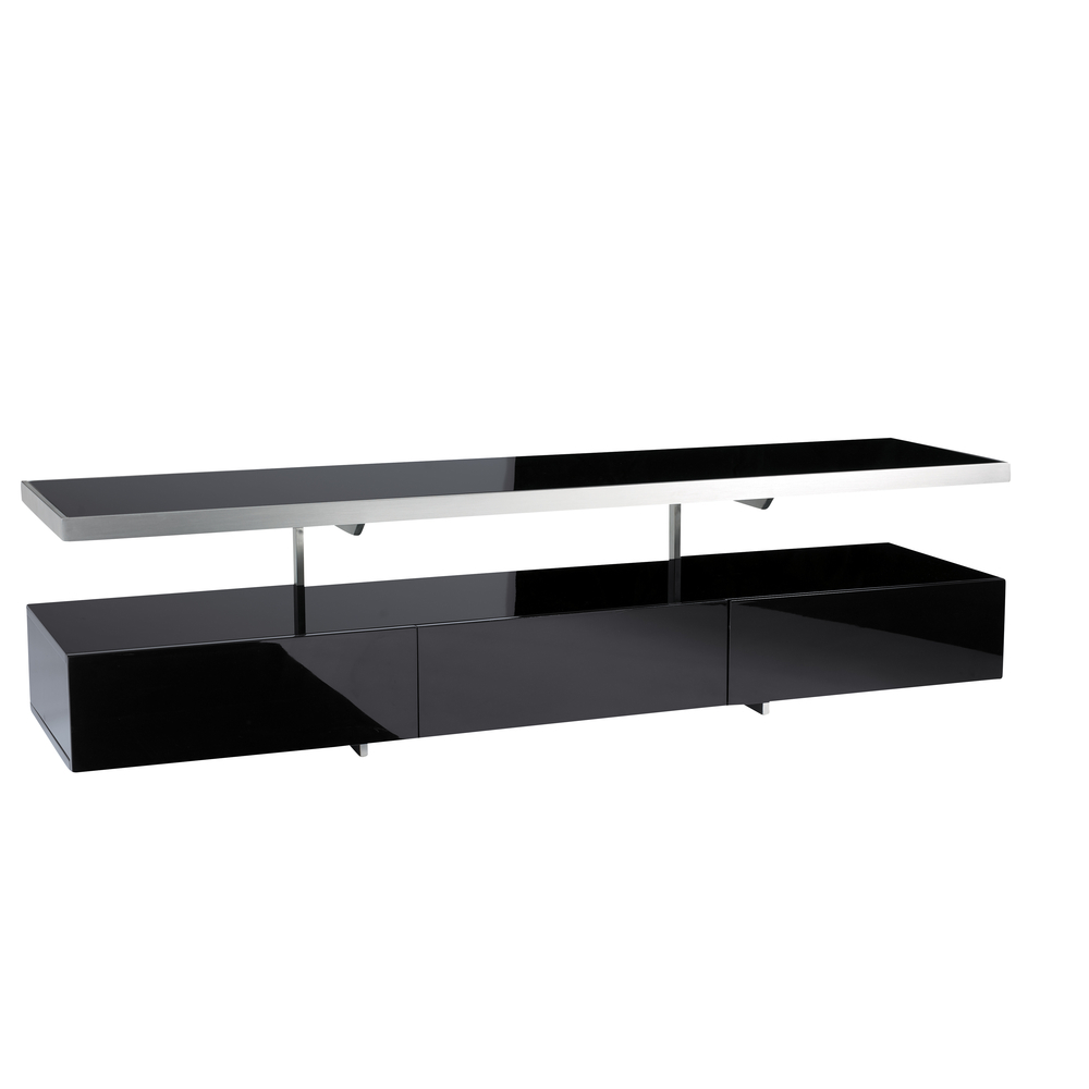 floating shelf tv unit black - dwell