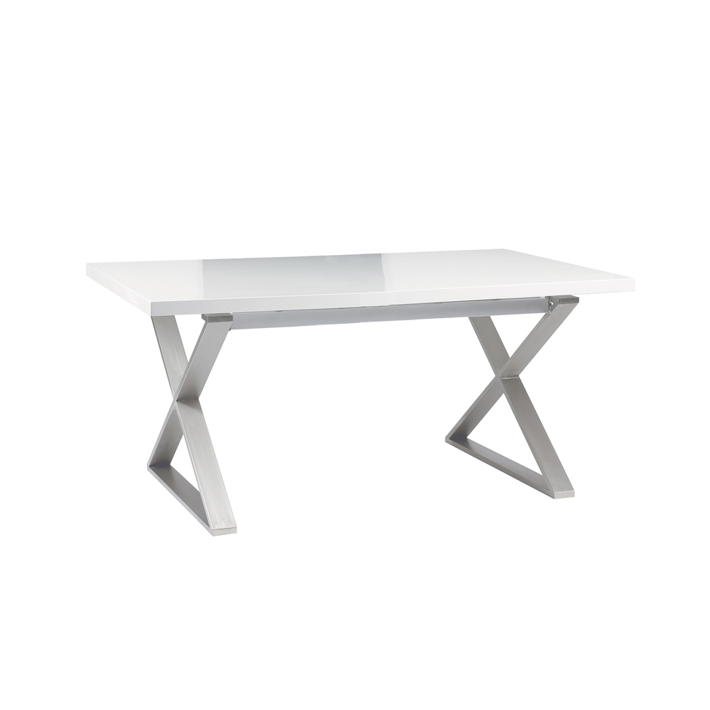 100 High Gloss White Extending Dining Table