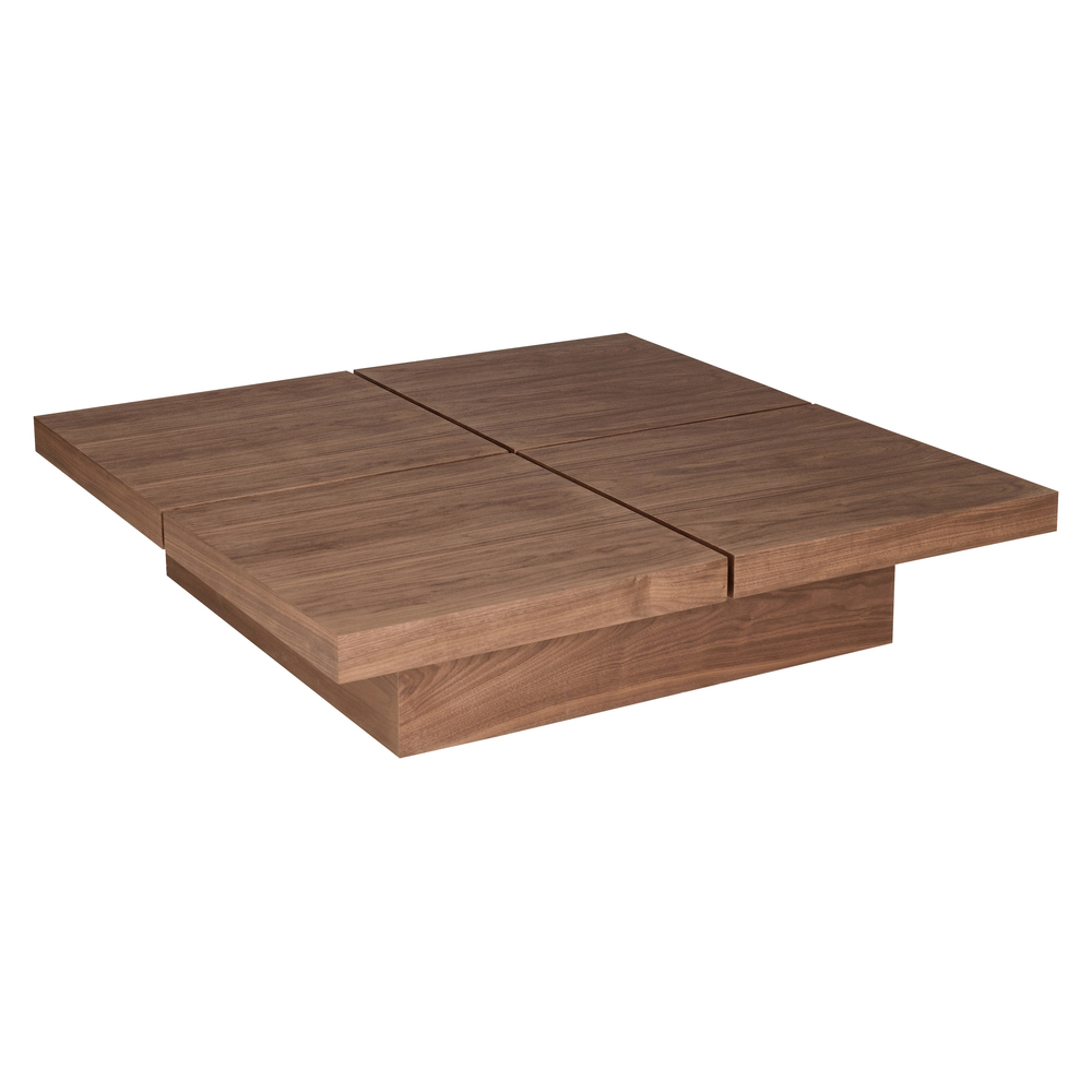 Four Block Storage Coffee Table Walnut Dwell