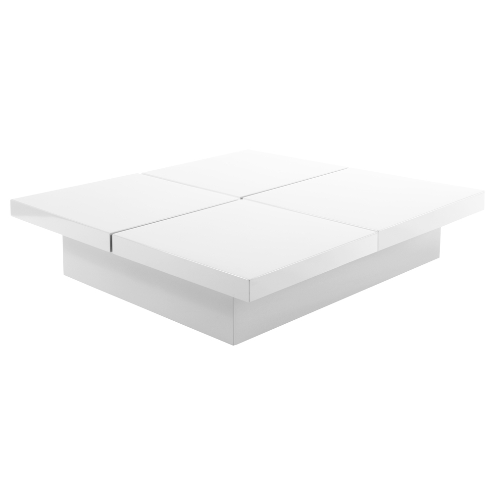 Four Block Storage Coffee Table White Dwell