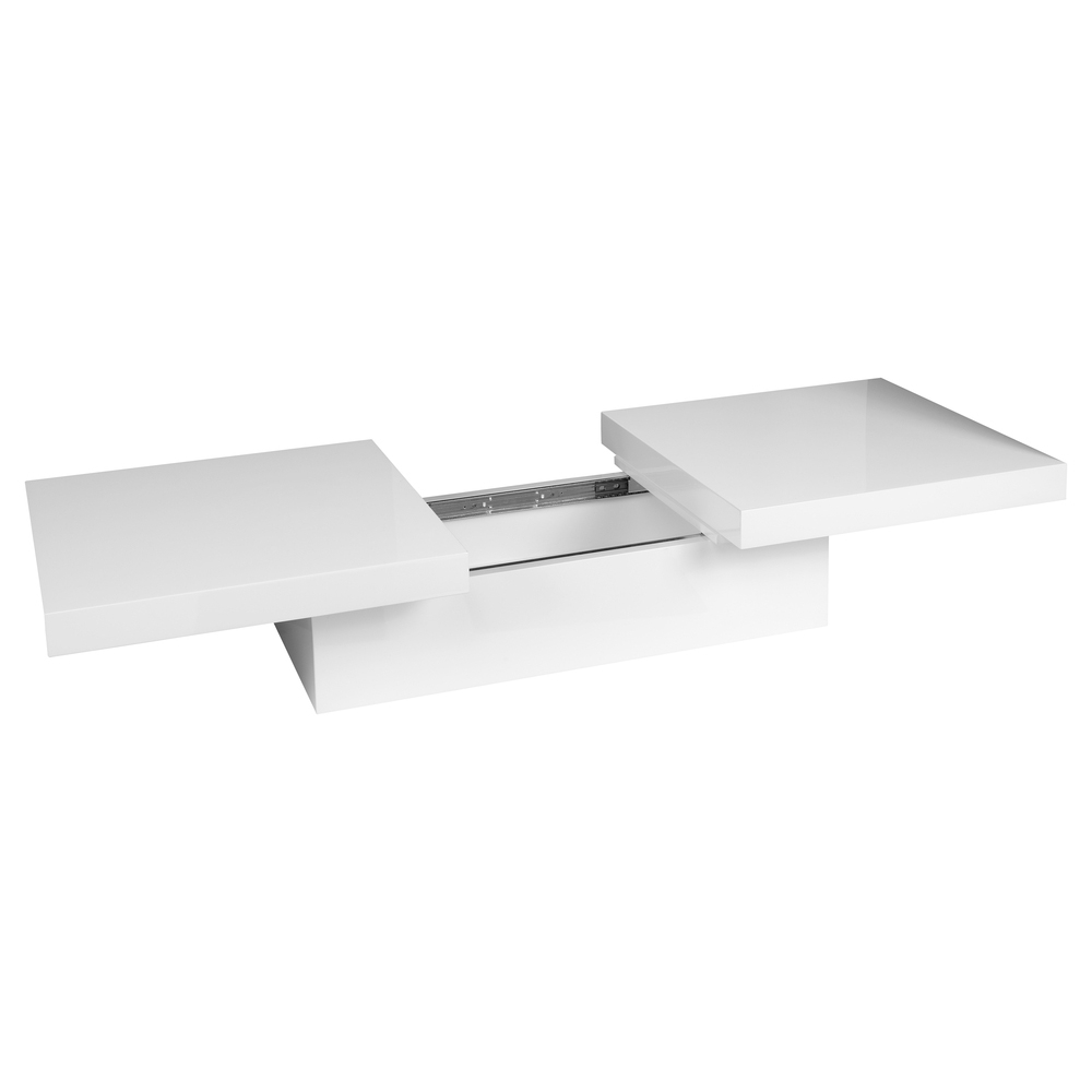 Two Block Storage Coffee Table White Dwell