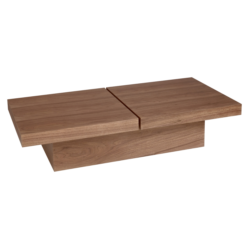 Two Block Storage Coffee Table Walnut Dwell