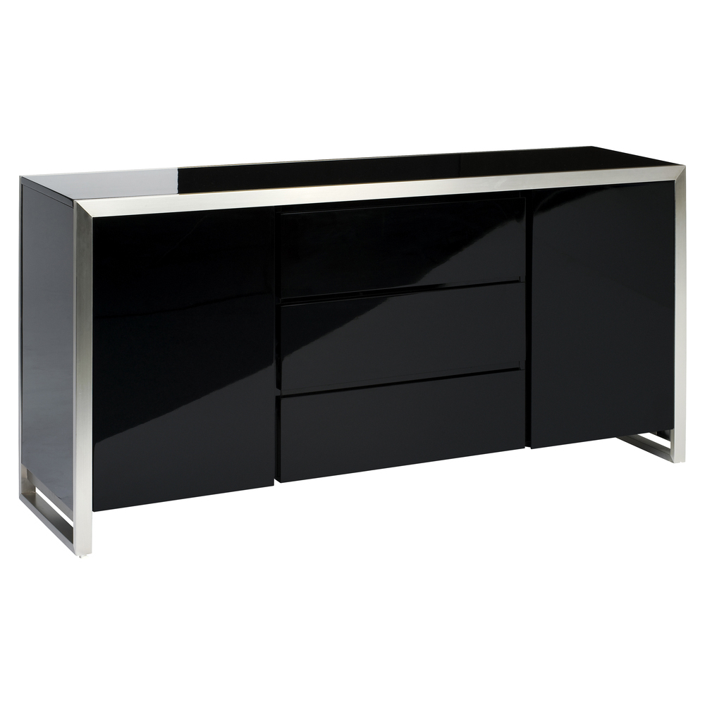 steel frame gloss sideboard black dwell : 1000 107294 from dwell.co.uk size 1000 x 1000 jpeg 258kB