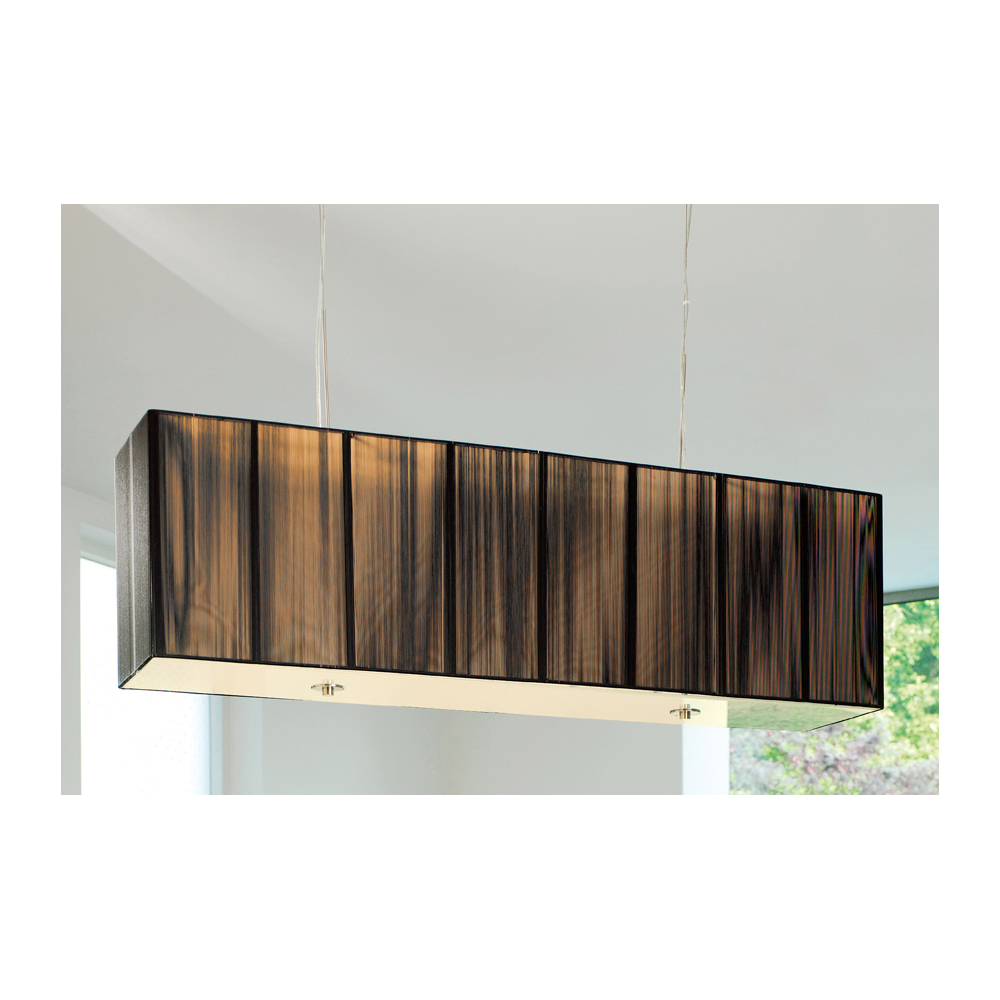 Black Silk Rectangular Pendant Light Dwell