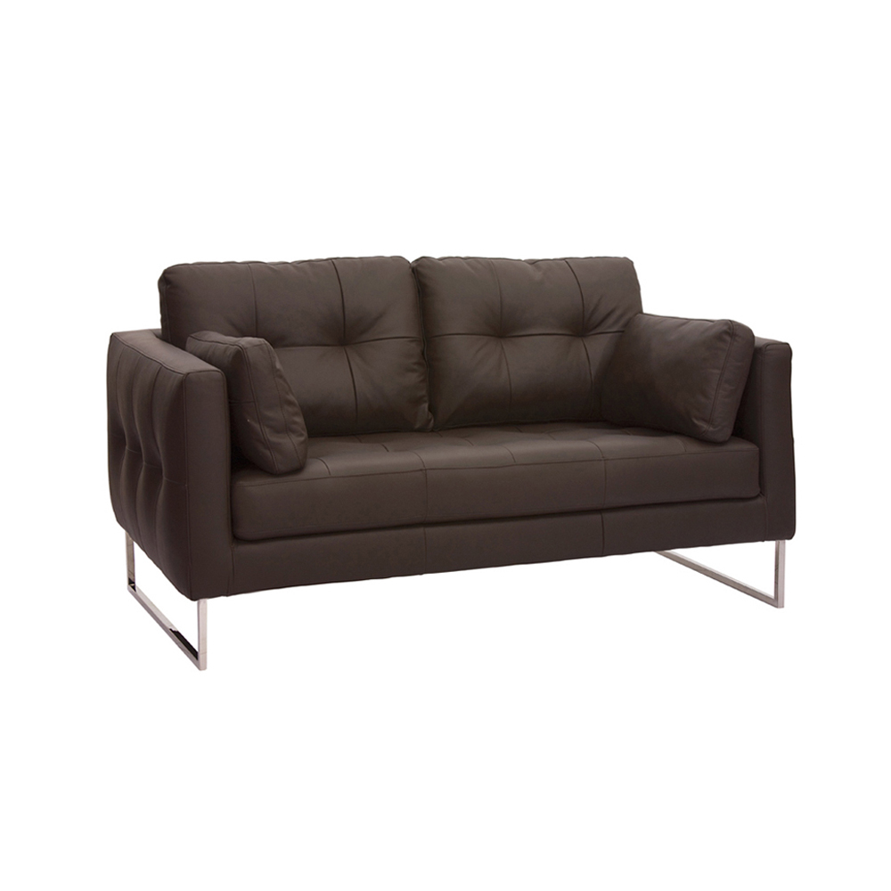 2 Seater Leather Sofa Brown: Paris Leather Two Seater Sofa Brown