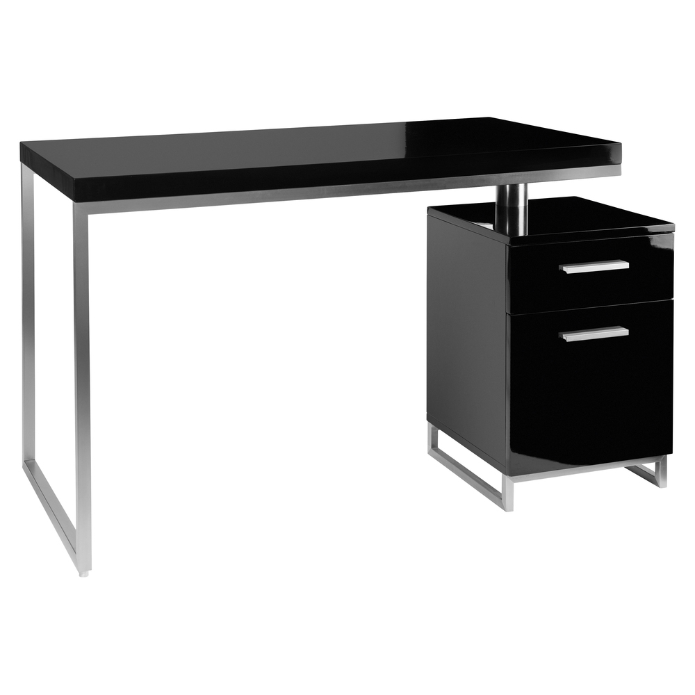 Reversible Desk And Drawers Black Dwell