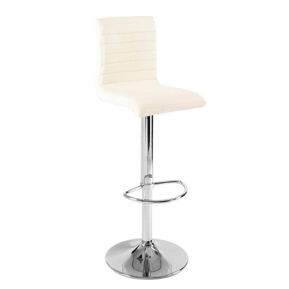 Ripple Faux Leather Bar Stool Off White Dwell