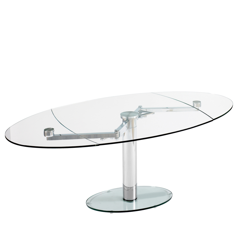 luca glass extending dining table clear dwell