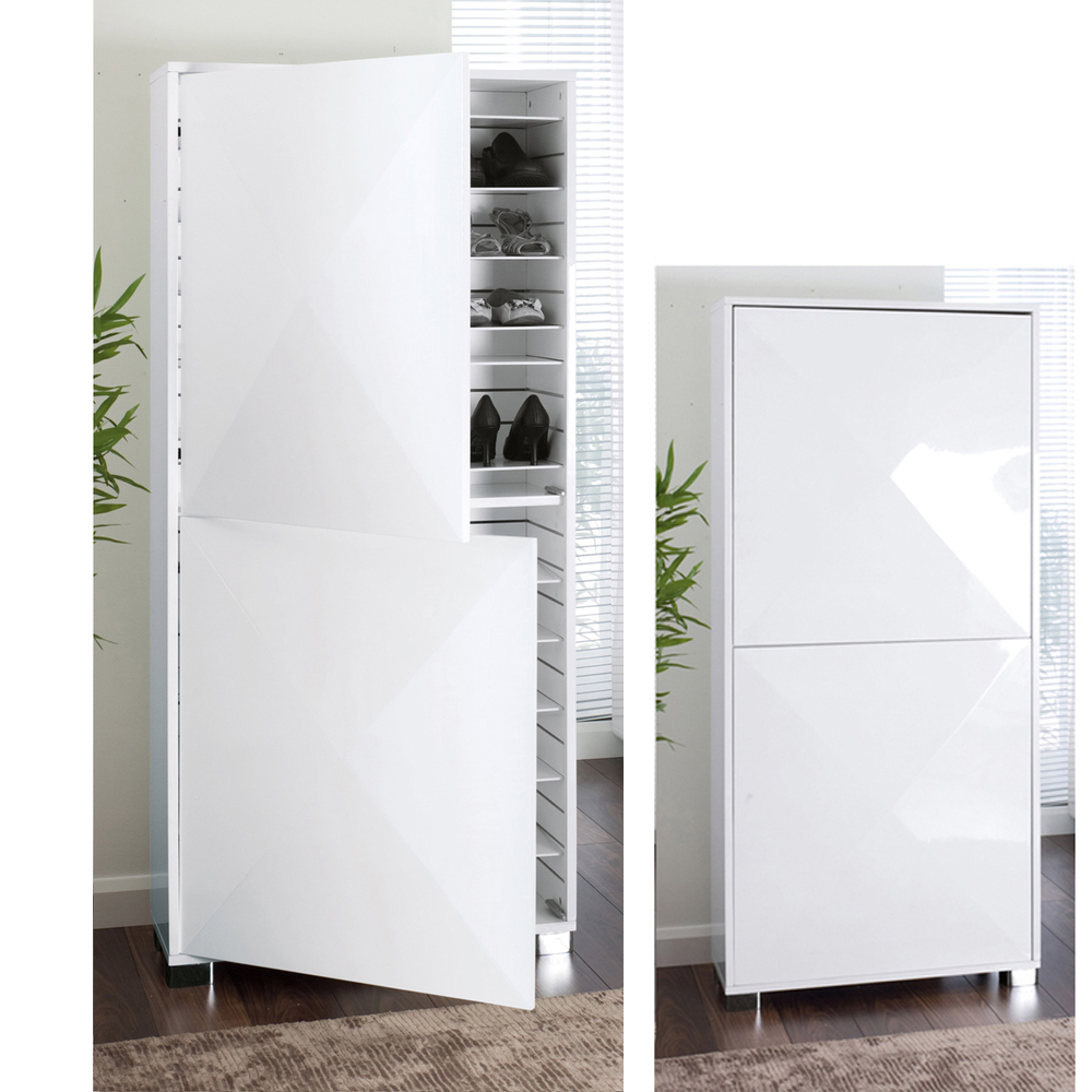 Space Gloss Shoe Cupboard White Dwell
