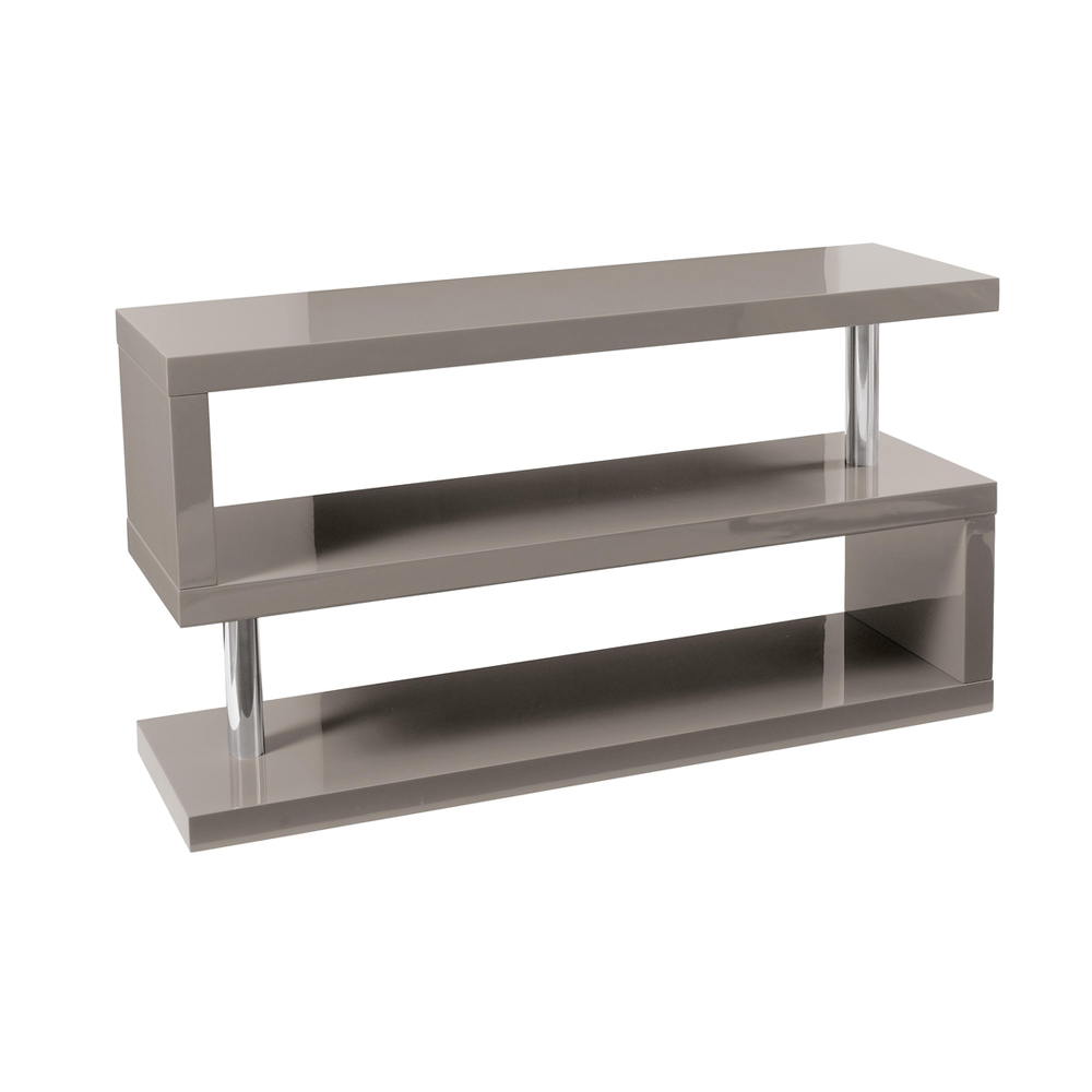 Contour Tv Unit With Shelving Stone Dwell