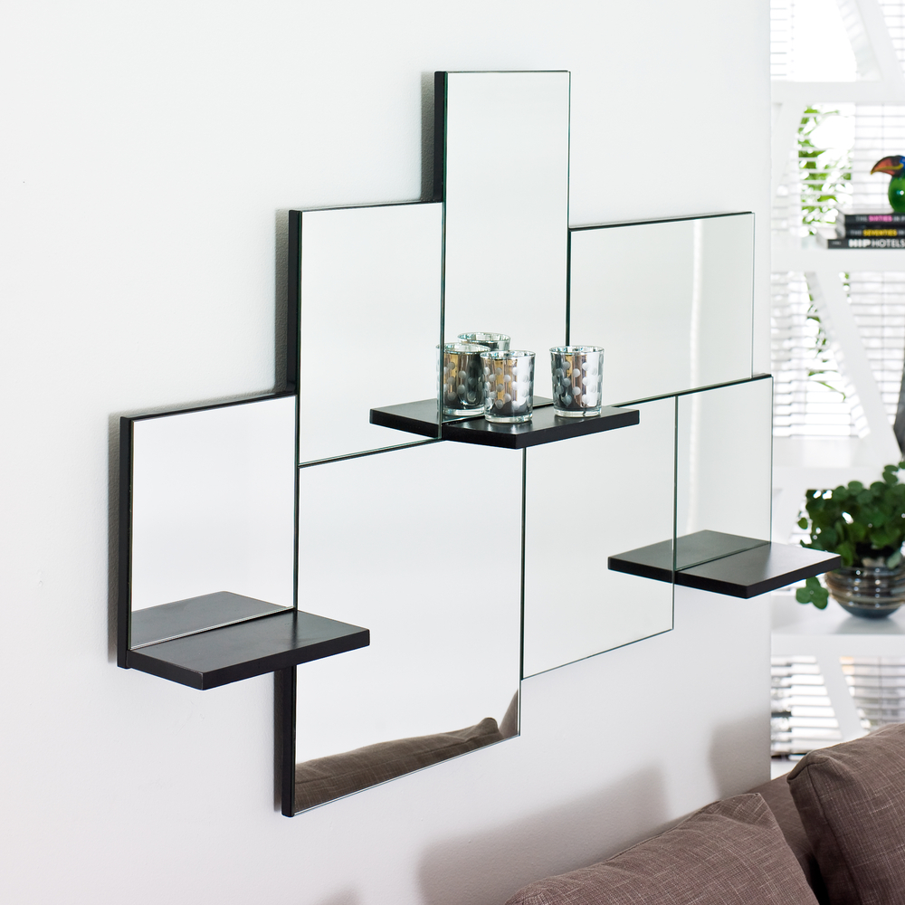 triple shelf mirror - dwell