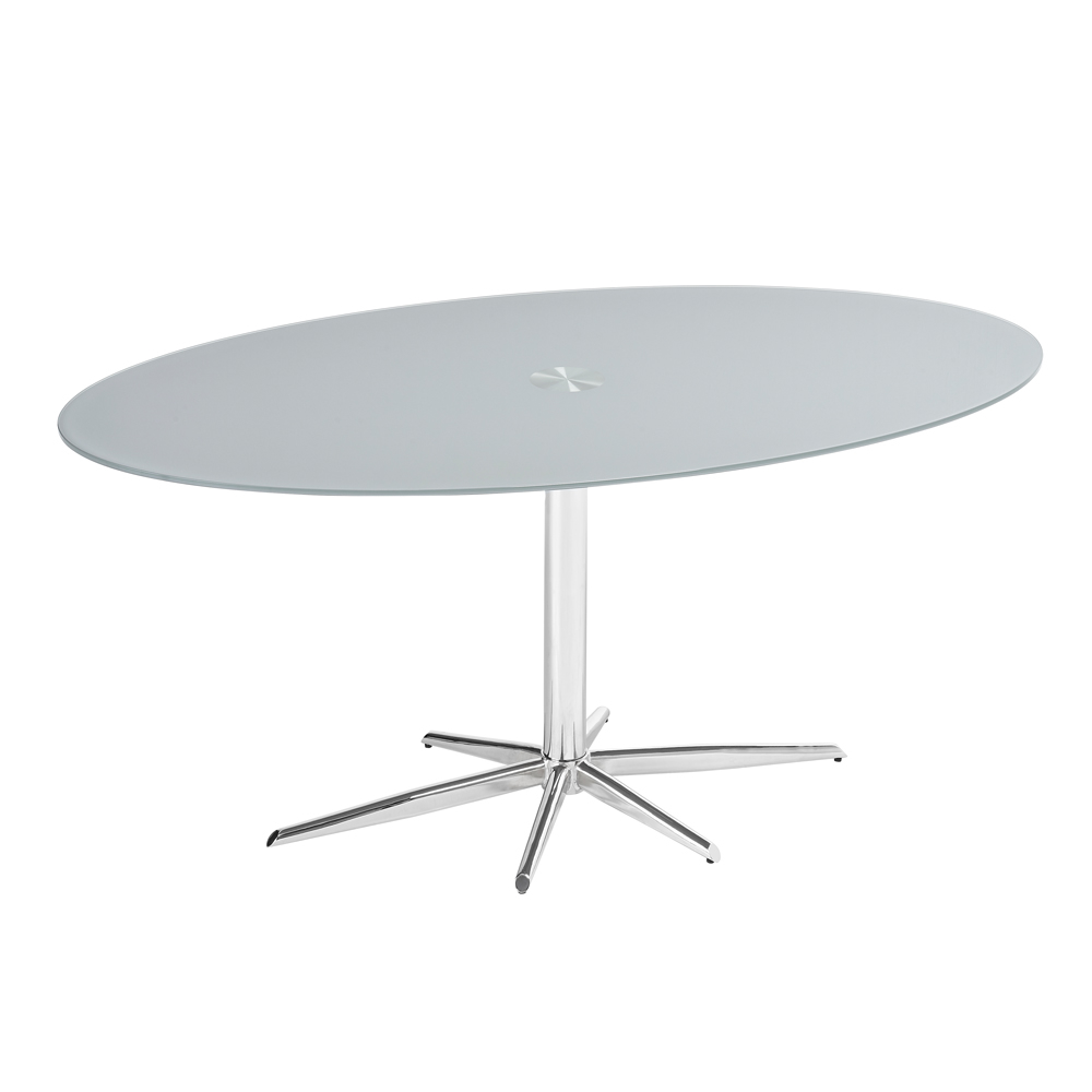 Stellar Base Glass Dining Table Stone Dwell