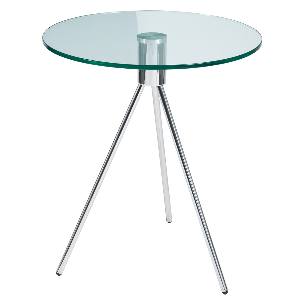 tripod glass side table clear - dwell