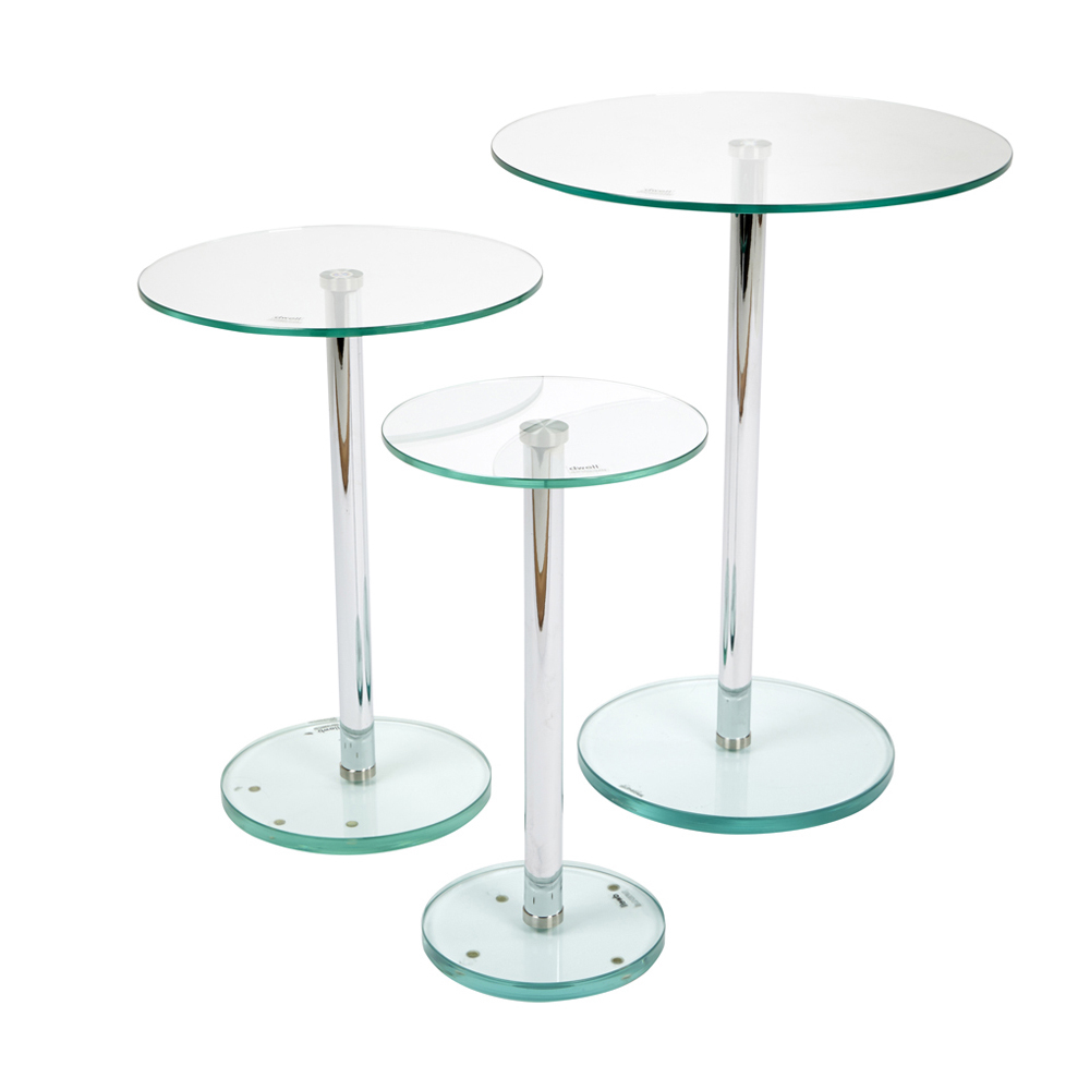 Bella Glass Side Tables Set Clear Dwell