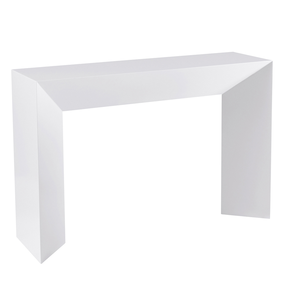 Sophia console table white dwell for White contemporary console table