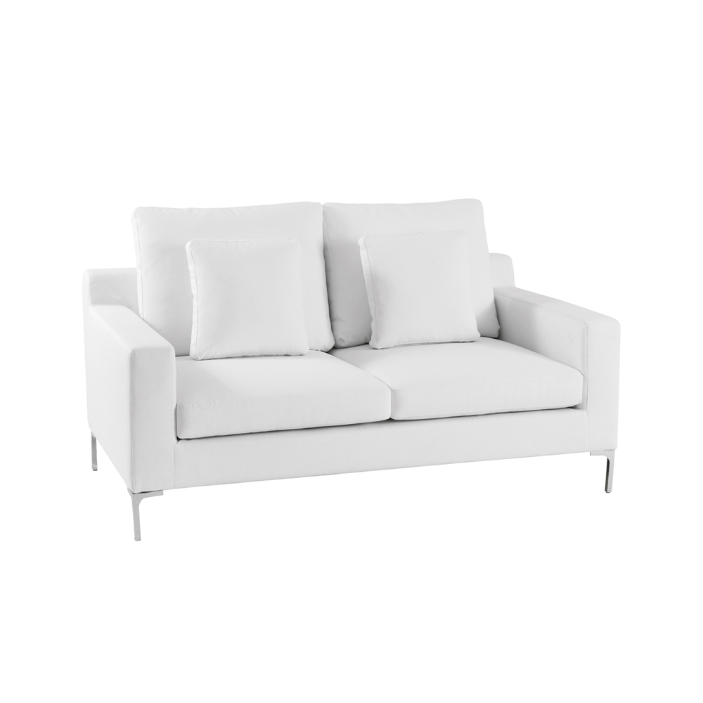 Oslo Two Seater Sofa White Dwell