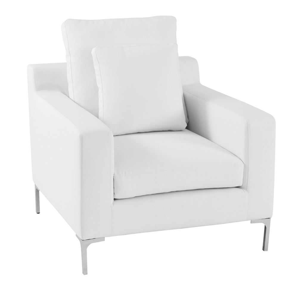 oslo armchair white - dwell