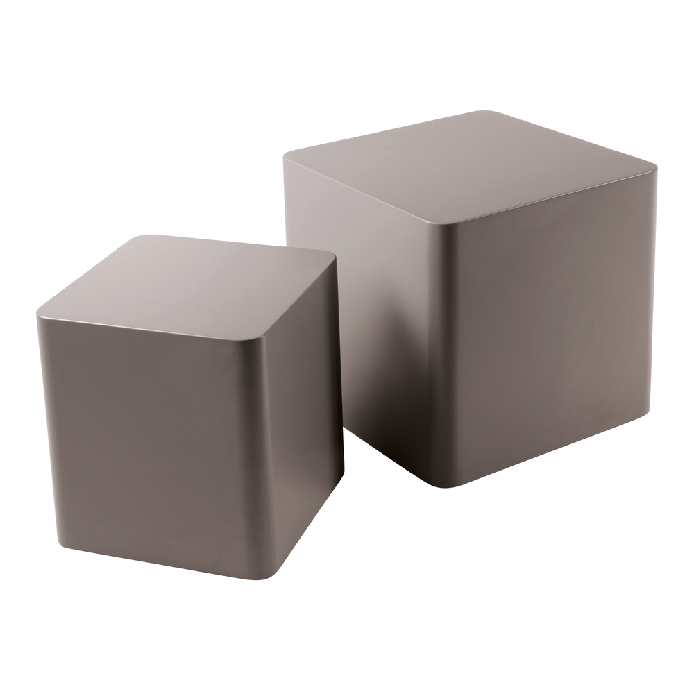 Square stacking side tables stone dwell