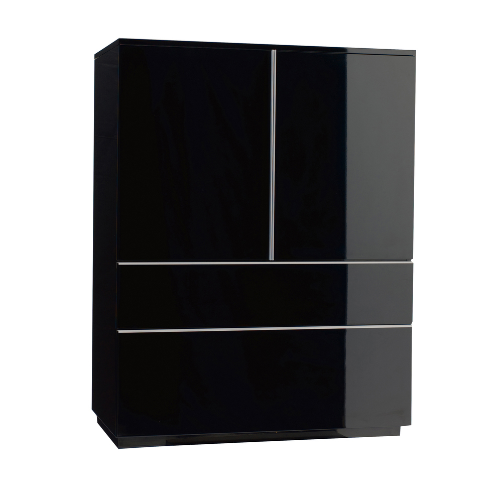 Kitchen table close up - Madison Storage Cupboard Black Dwell