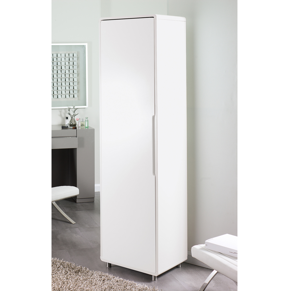 Monza Tall Shoe Storage Cupboard White Dwell