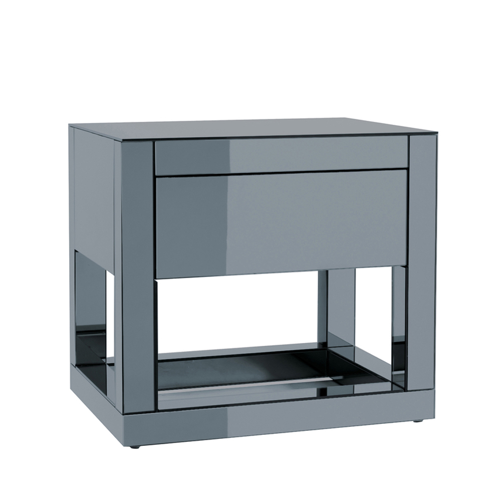 Reflect mirrored bedside table dwell for Mirror bedside cabinets
