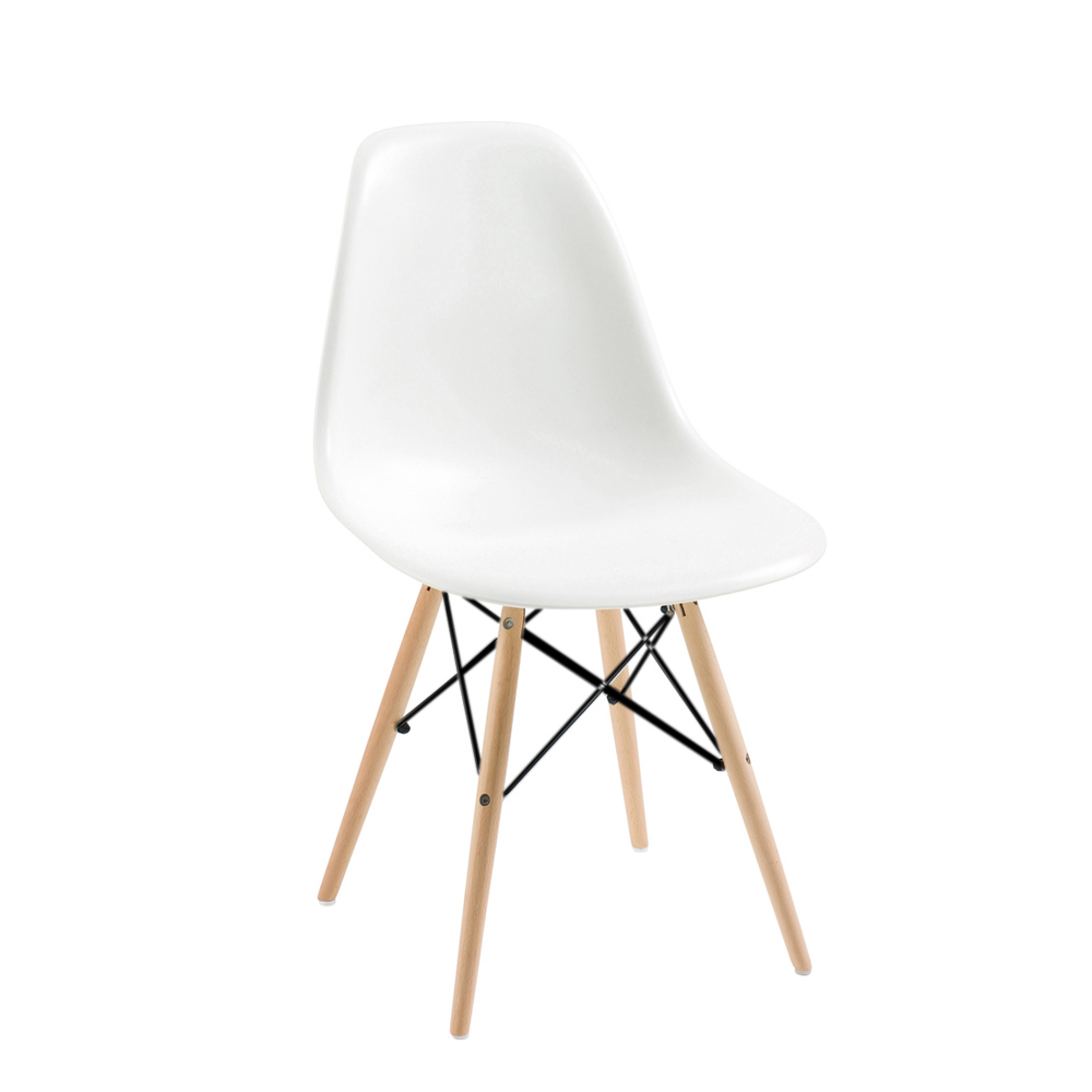 Eiffel Chair With Beech Legs White Dwell