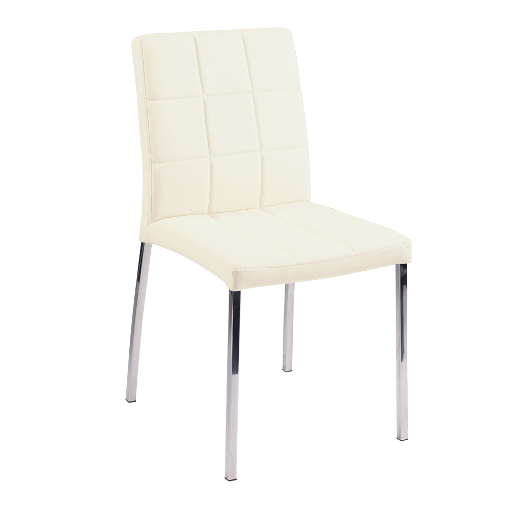 jenkins faux leather dining chair cream - dwell
