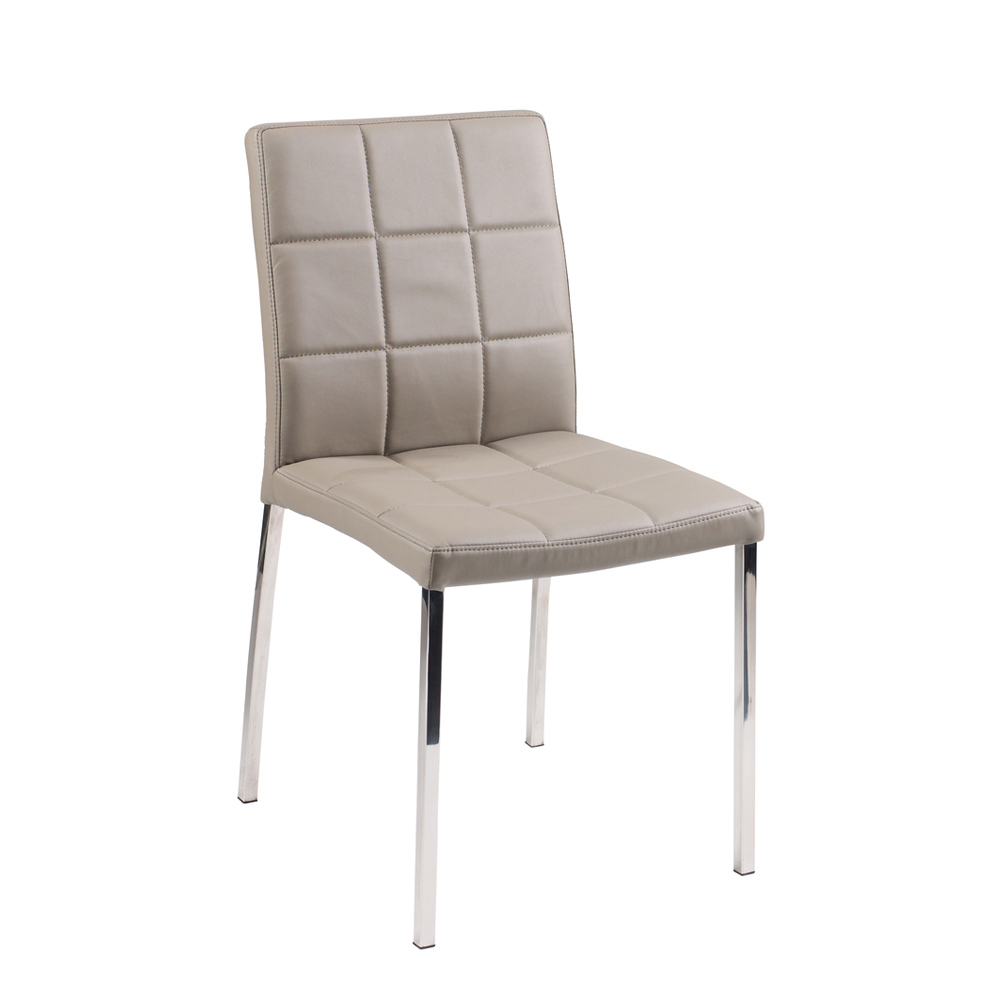 jenkins faux leather dining chair stone dwell