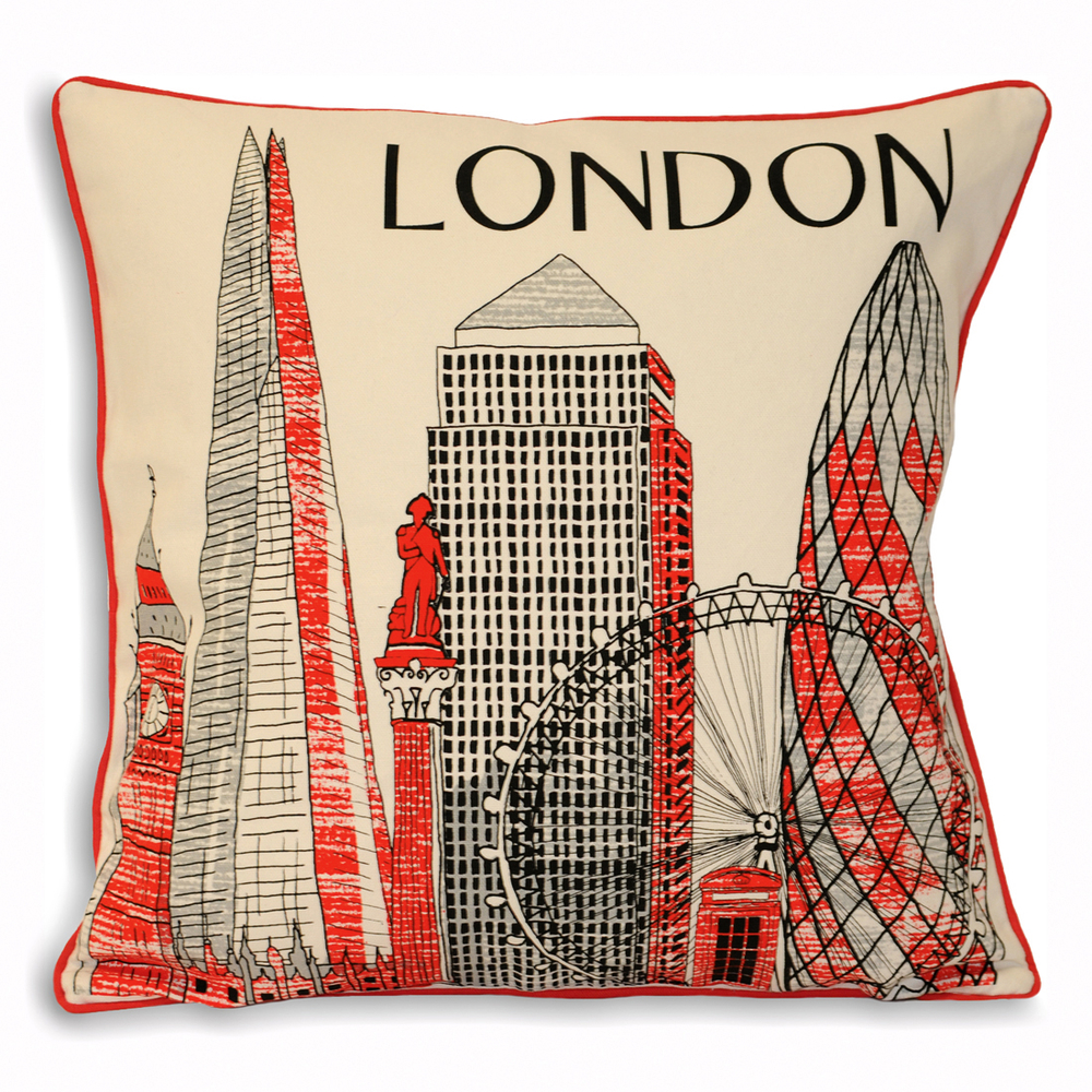 London Iconic Landmarks Cushion Dwell