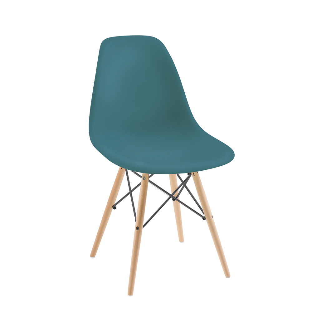 Dwell Eiffel Chair With Beech Legs Teal