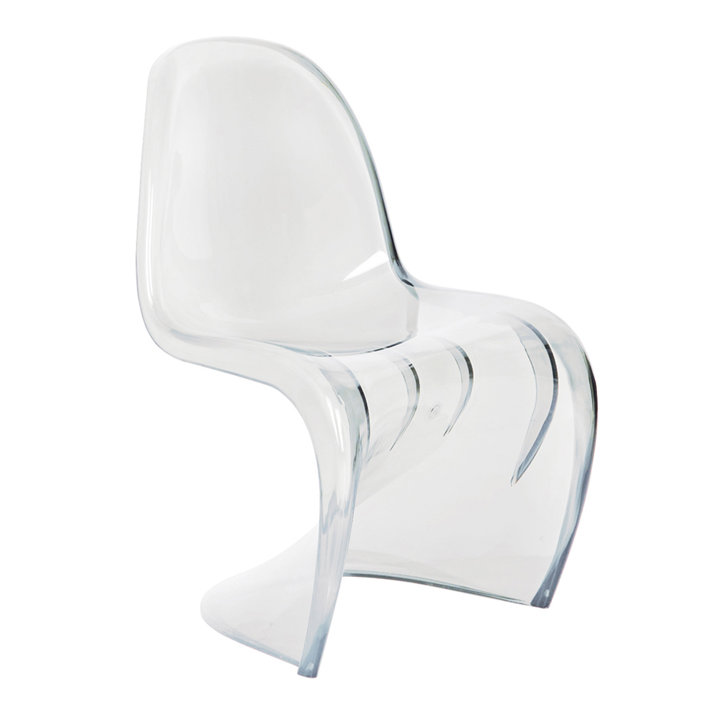 Curve One Piece Chair Clear Dwell