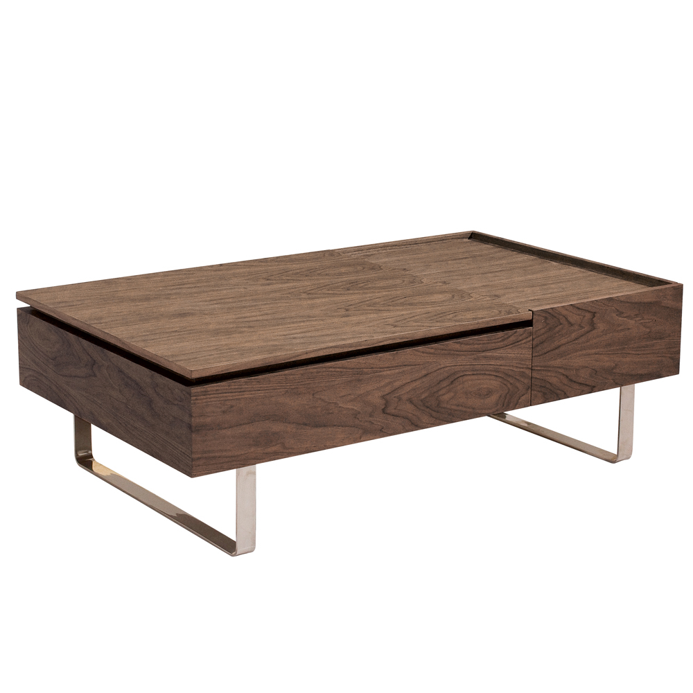 Reveal coffee table walnut dwell for Coffee table