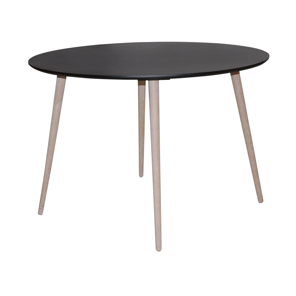 dwell sleek dining table black