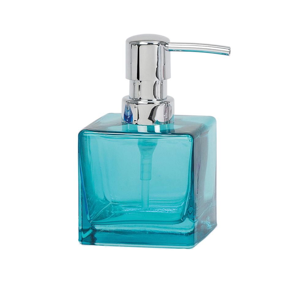Glass Soap Dispenser Turquoise Dwell
