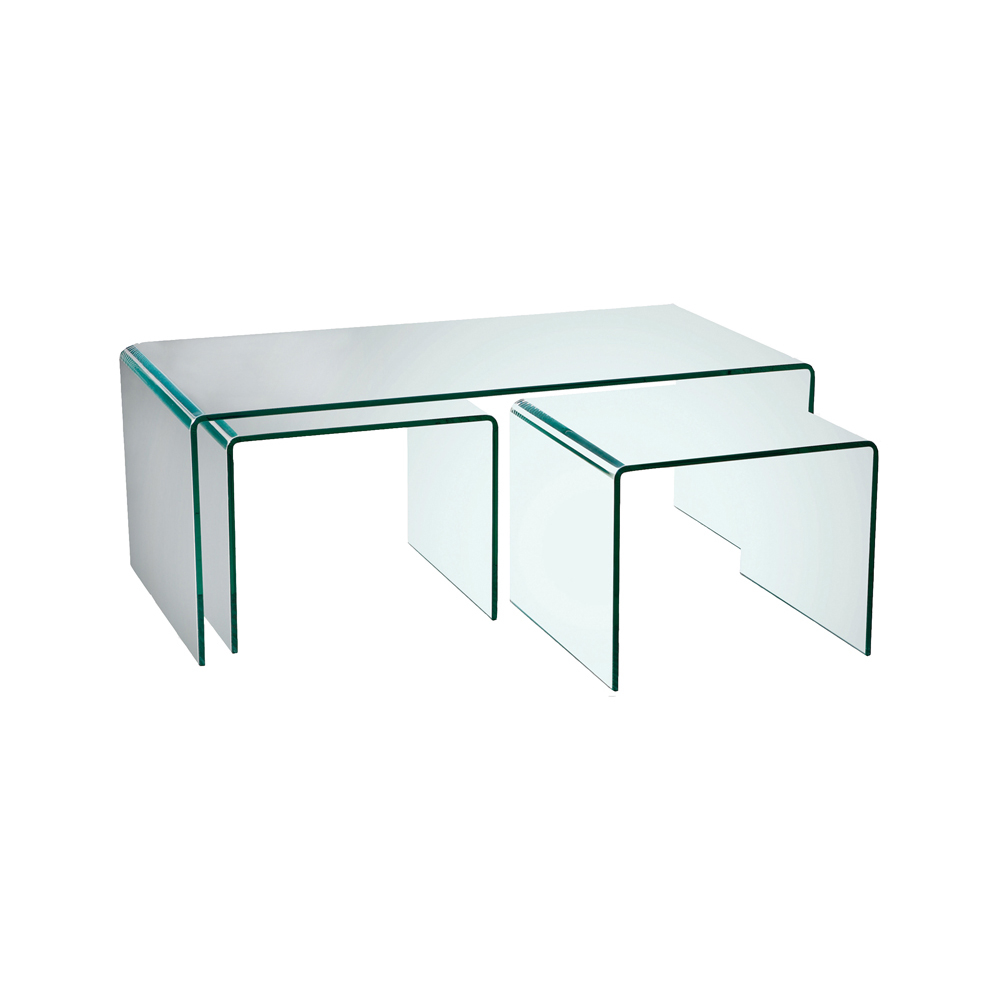 Puro Glass Coffee Table Set Dwell