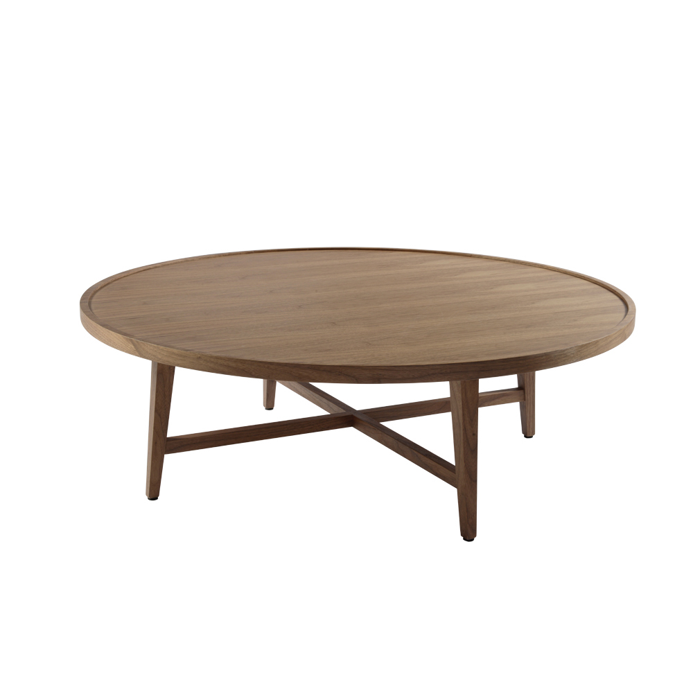 Platter cross leg coffee table walnut dwell Legs for a coffee table