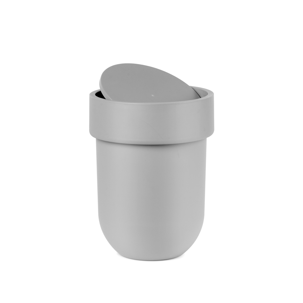 Flip table top bin grey dwell - Mini poubelle de salle de bain ...