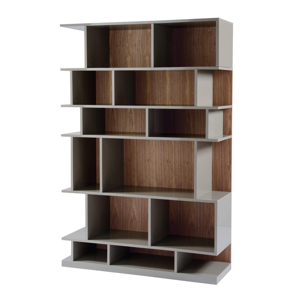Step Shelving Stone And Walnut Dwell