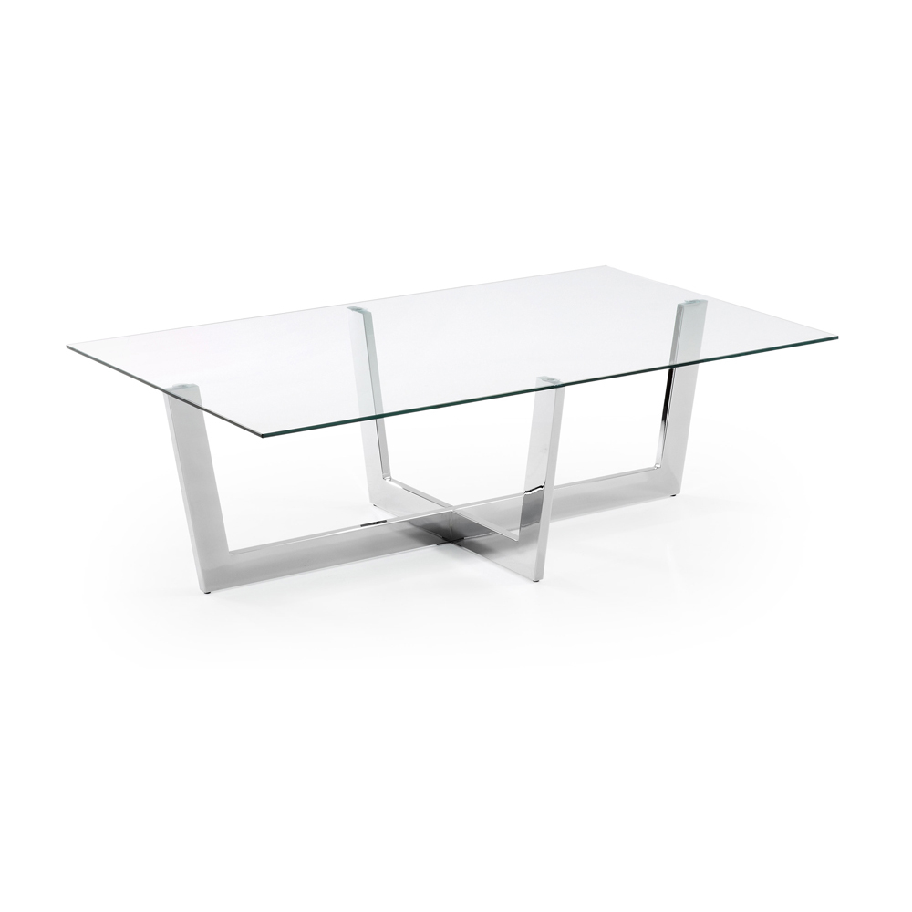 Module Glass Coffee Table White