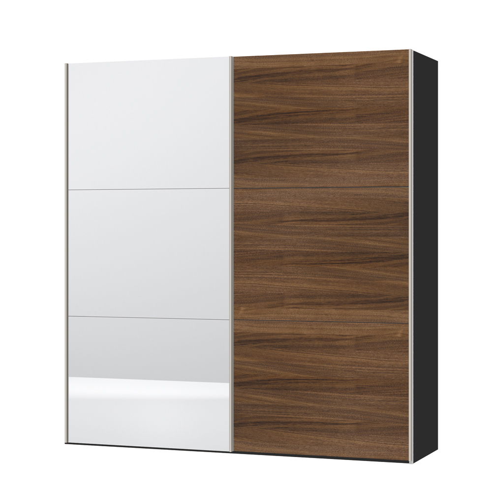 loft two door sliding wardrobe walnut and mirror dwell : 1000 138267 from dwell.co.uk size 1000 x 1000 jpeg 464kB