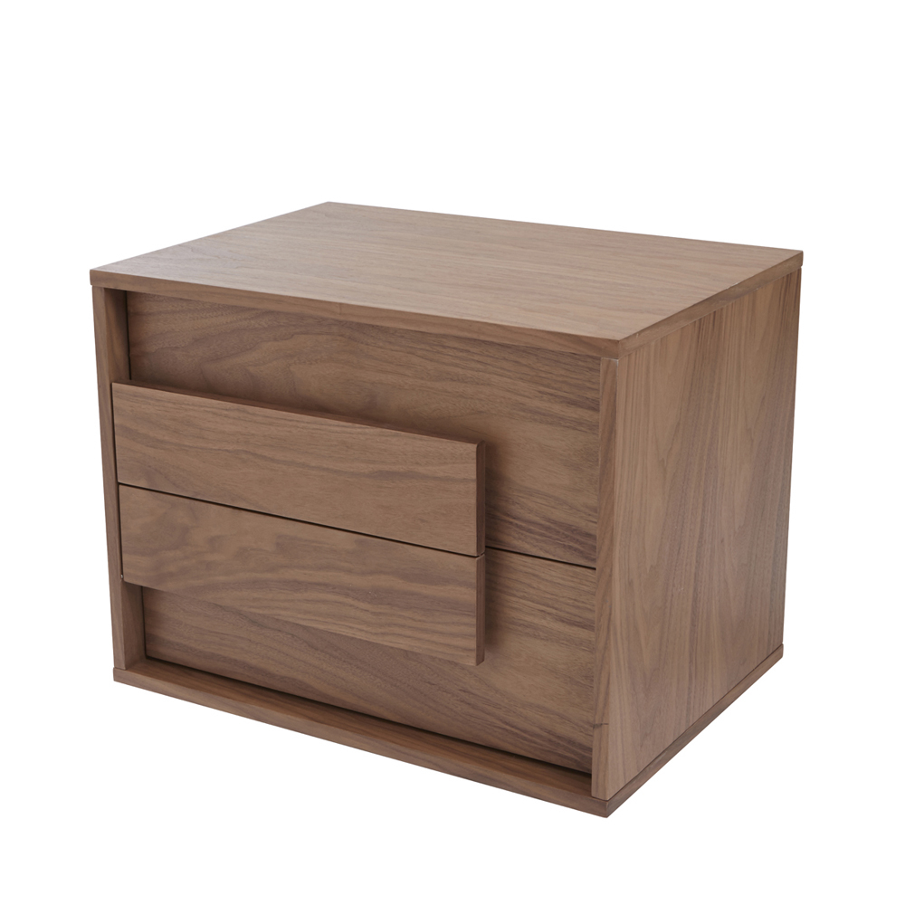 Median Bedside Table Walnut Dwell